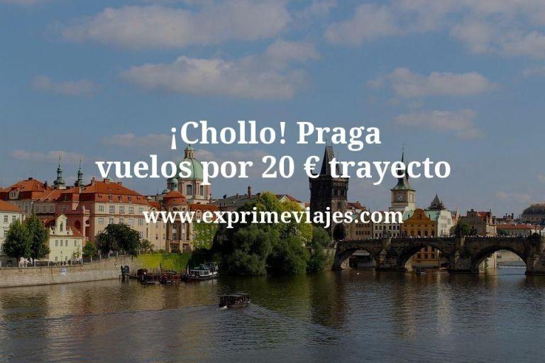 ¡Chollo! Praga vuelos por 20euros trayecto