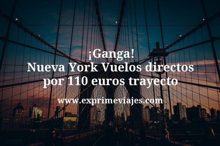 ¡Ganga! Nueva York Vuelos directos por 110euros trayecto