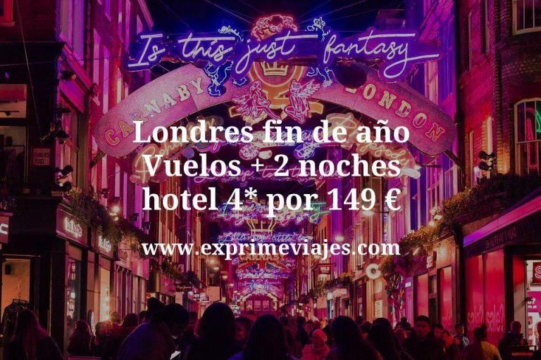 Londres Fin de Año: Vuelos + 2 noches hotel 4* por 149euros