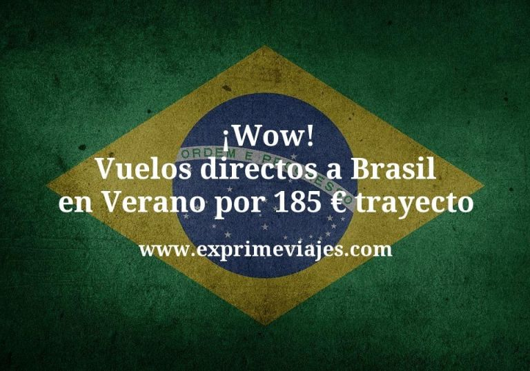 ¡Wow! Vuelos directos a Brasil en Verano por 185€ trayecto