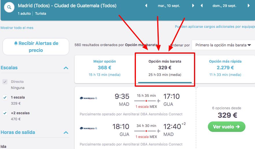 ganga vuelos a guatemala 164 euros trayecto desde madrid