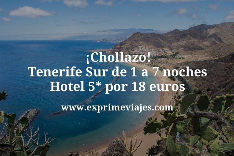 ¡Chollazo! Tenerife Sur de 1 a 7 noches Hotel 5* por 18euros