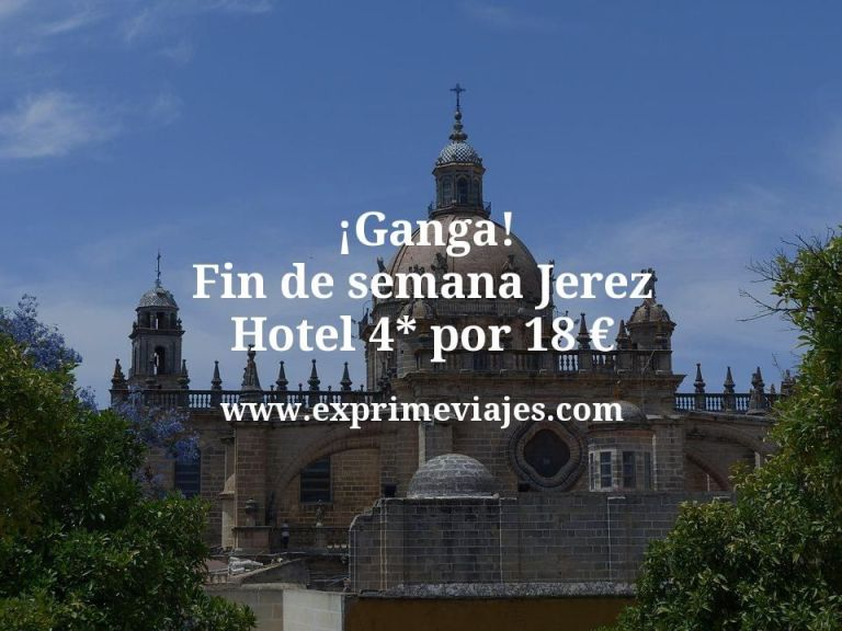 ¡Ganga! Fin de semana Jerez: NH 4* por 18€ p.p/noche