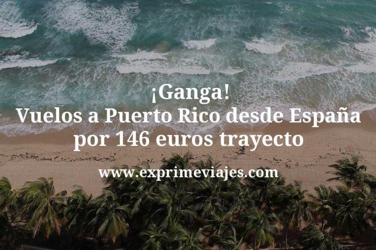 ¡Ganga! Puerto Rico: Vuelos desde España por 146euros trayecto