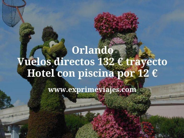 Orlando: Vuelos directos por 132euros trayecto; Hotel con piscina por 12euros