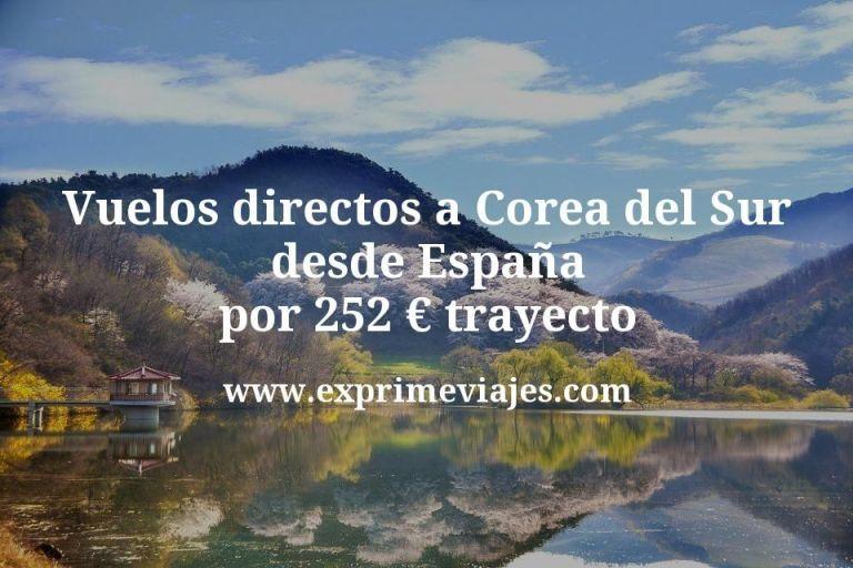 ¡Wow! Vuelos directos a Corea del Sur desde España por 252€ trayecto
