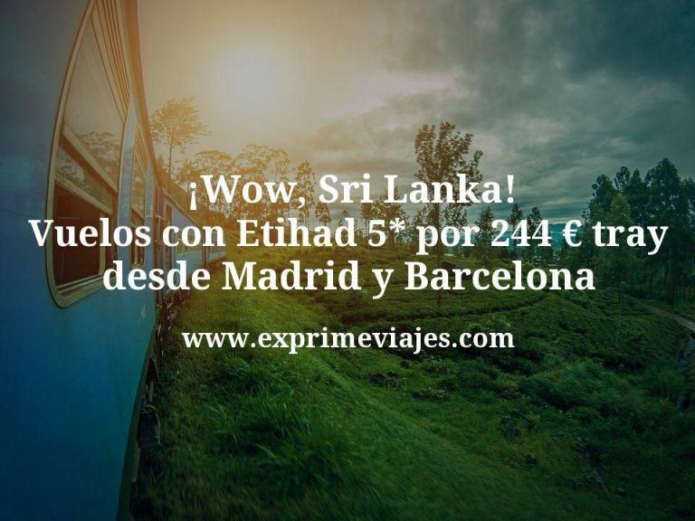 ¡Wow! Vuelos a Sri Lanka con Etihad 5* por 244€ trayecto