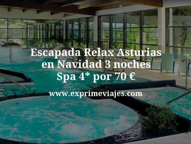 Escapada Relax Asturias en Navidad: 3 noches Spa 4* por 70euros p.p.