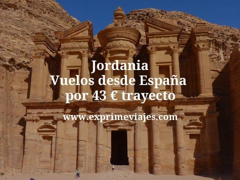 ¡Chollo! Jordania: vuelos desde España por 43euros trayecto