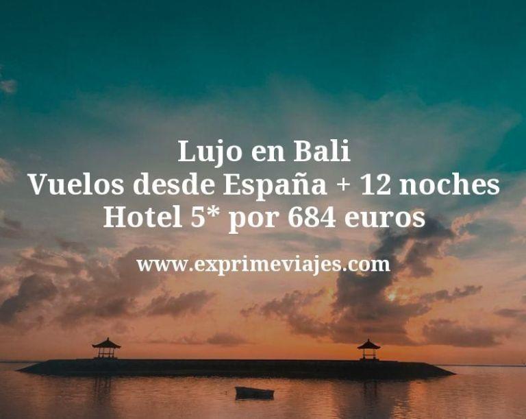 Lujo en Bali: Vuelos desde España + 12 noches hotel 5* por 684euros