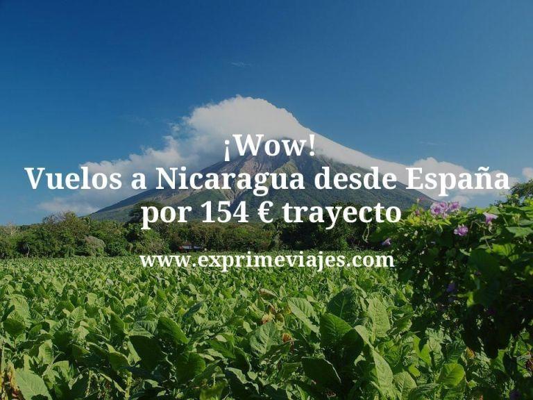 ¡Wow! Vuelos a Nicaragua desde España por 154euros trayecto