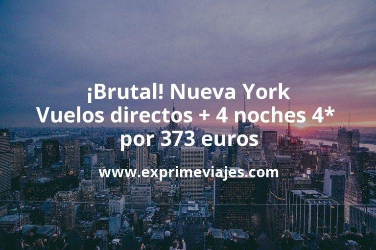 ¡Brutal! Nueva York: Vuelos directos + 4 noches 4* en Times Square por 373euros