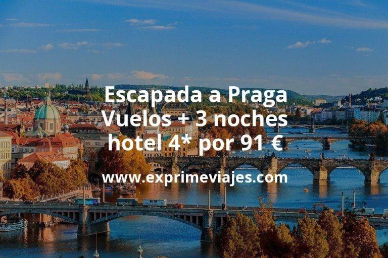 Escapada a Praga: Vuelos + 3 noches hotel 4* por 91euros
