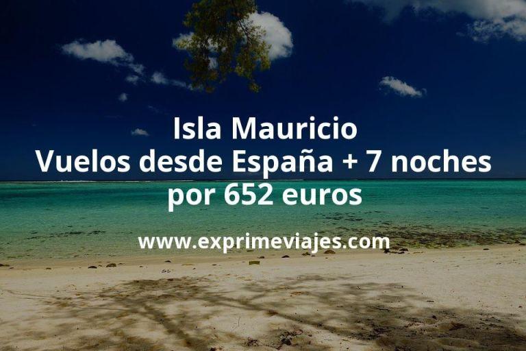 ¡Wow! Isla Mauricio: Vuelos desde España + 7 noches por 652euros