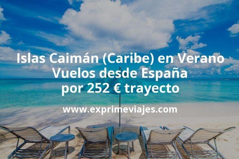 Islas Caimán (Caribe) en Verano: Vuelos desde España por 252€ trayecto
