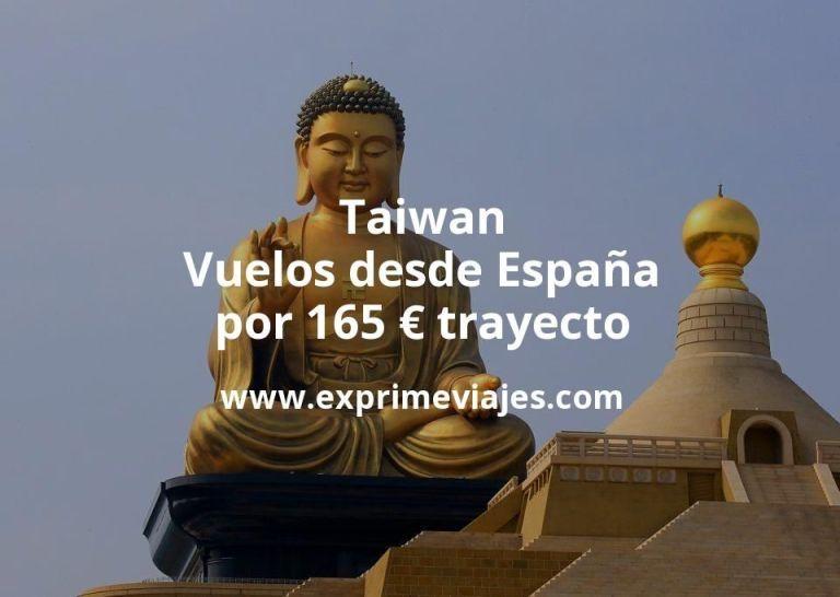 ¡Wow! Taiwan: Vuelos desde España por 165euros trayecto
