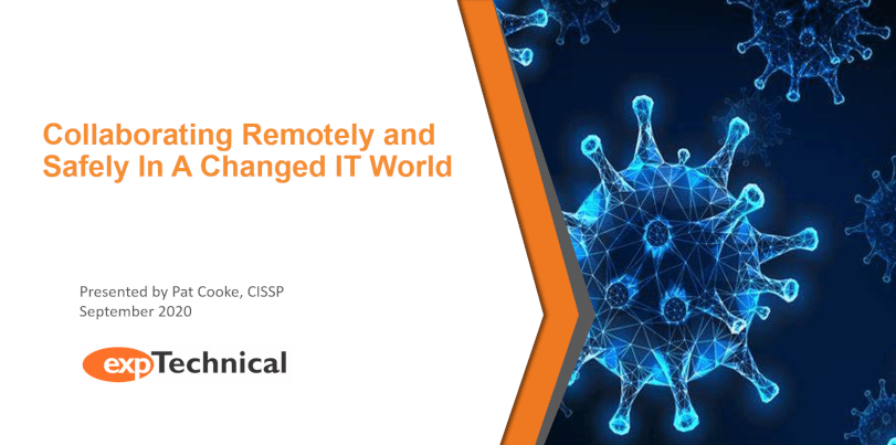 Collaborating Remotely and safely in a changed it world webinar cover
