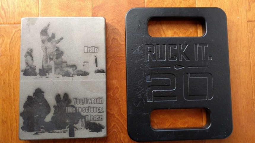 20lb ruck plates from SHplates and Goruck