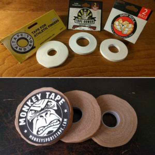 Four brands of finger tape
