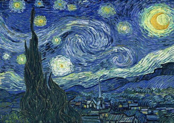 Van Gogh Vincent Starry Night. Fine Art Print Poster. Sizes A4 A3 A2 A1 002