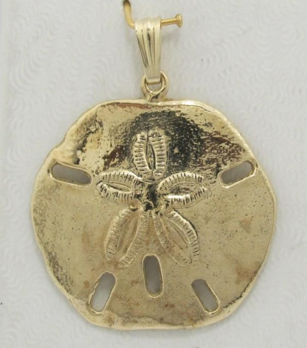 Sand Dollar Pendant 14k Yellow Gold - Exquisite Design