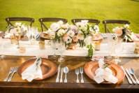 Wedding Decor: Rustic Farm Table Dining & Metallic Accents ...