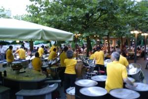 Steelband Extempo an einem der Events im Restaurant Goldenberg