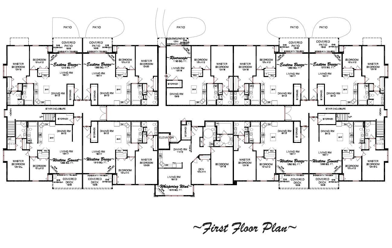 Simple Condo Design Plans Placement