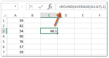 How To Average Range With Rounding In Excel