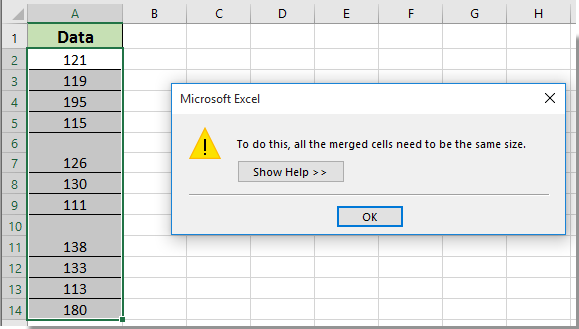 How to sort data with merged cells in Excel?