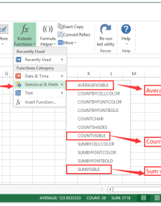 also how to count ignore hidden cells rows columns in excel rh extendoffice