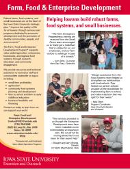 Farm, Food and Enterprise Development flyer.