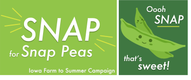 Snap for snap peas poster.
