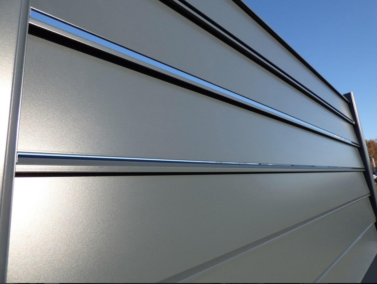أبيض حليبي تدريب فى المنزل brise vue aluminium lame inclinee