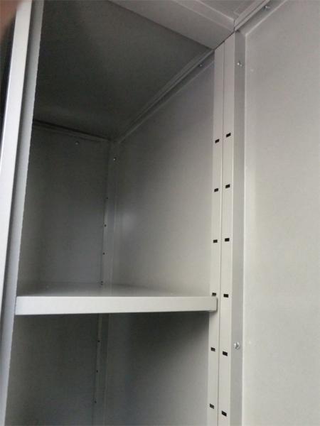 サンキン物置「ロータスミニ1307」棚板付き 扉色:ソリッドレモン