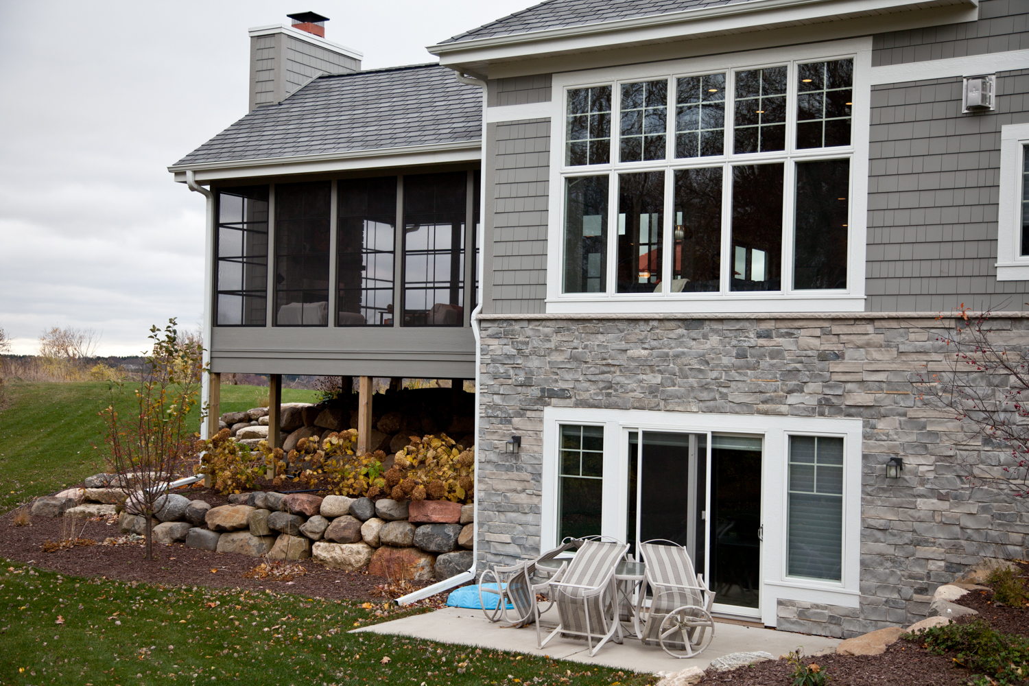 Beautiful Country Home   Exterior Renovations Madison Remodeling, Roofing, Siding and Windows