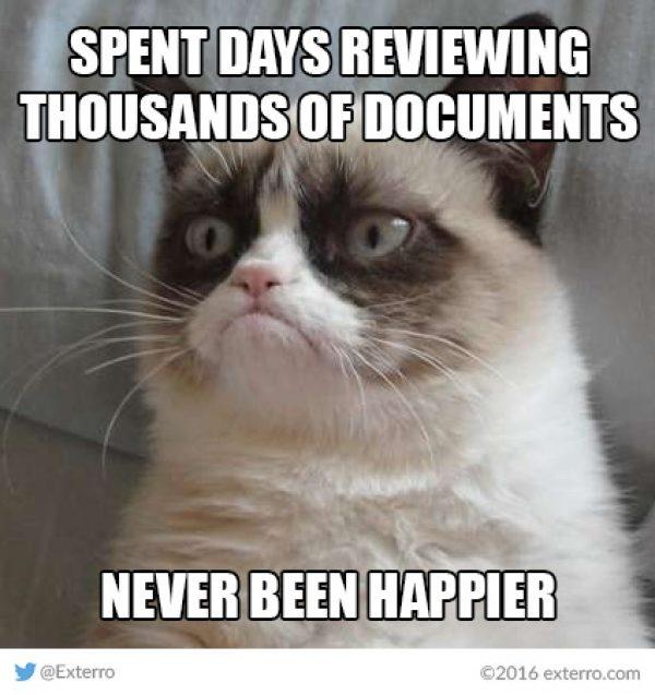 Friday Funnies Exterros EDiscovery Meme Series Grumpy