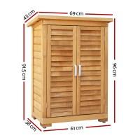 Portable Wooden Outdoor Garden Storage Cabinet | eBay