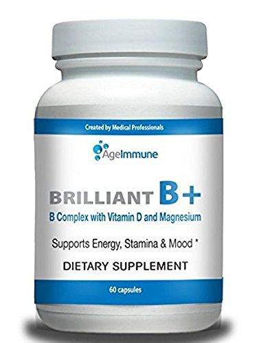 Doctor Formulated Vitamin B Supplements Complex with B6, D, Magnesium, Methylated B12, and Folate (Folic Acid)