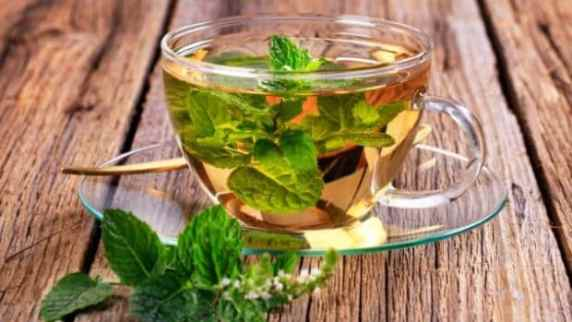 Peppermint tea, tea for constipation