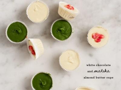 White Chocolate and Matcha Almond Butter Cups via Love & Lemons