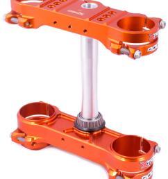motocross shop extracross xtrig rocs tech triple clamp ktm exc exc f 14 16 offset 20 orange [ 820 x 1000 Pixel ]