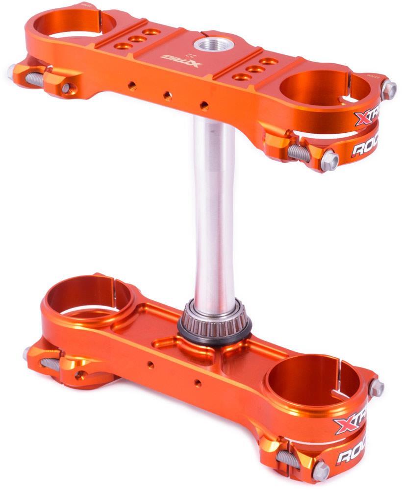 hight resolution of motocross shop extracross xtrig rocs tech triple clamp ktm exc exc f 14 16 offset 20 orange