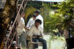 Superstar Rajini Kanth relaxing while filming Endhiran in Goa coastline