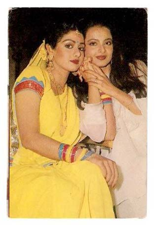 Sridevi with Rekha