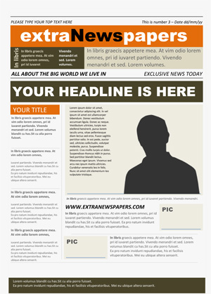 Newspaper Template Microsoft Word Free Download