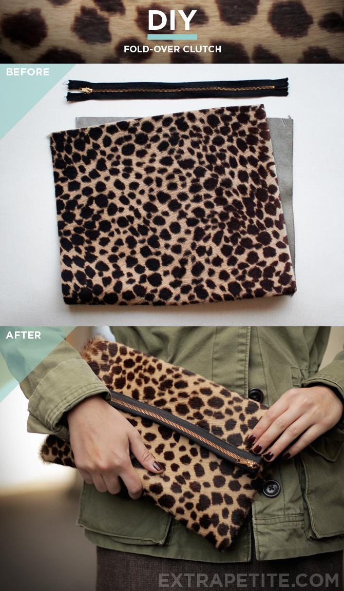 Simplified DIY Clutch Bag Tutorial Foldover Style