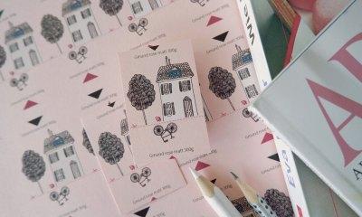 rosa Papier