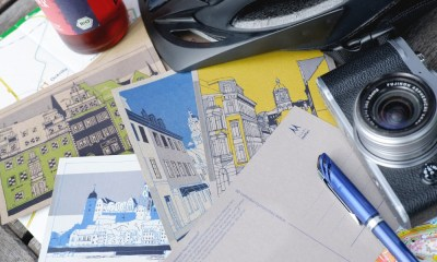 Postkarten aus Recyclingpapier, Kraftpapier, Muskatpapier
