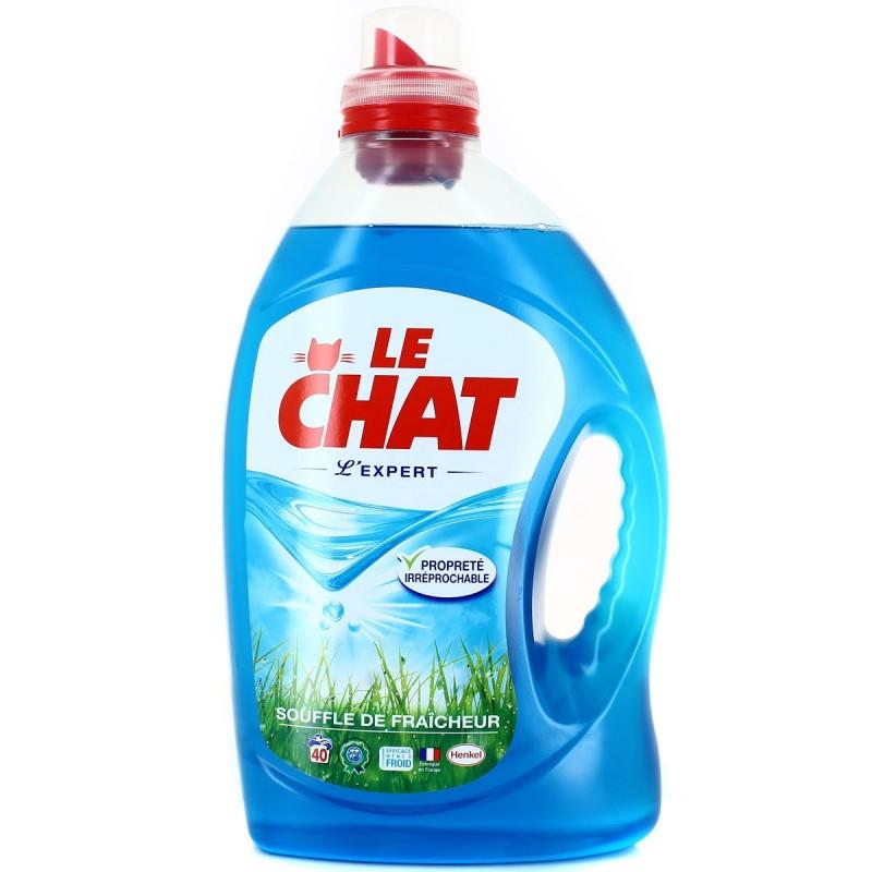 Lessive liquide Le Chat Expert Souffle de fraicheur 3L  Extra